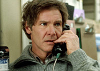 Harrison Ford on the phone in The Fugitive movie