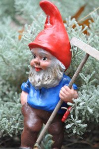 Garden gnome like Travelocity