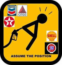 Gasoline pump up the ass