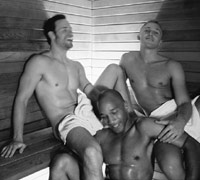 Gay guys in a sauna