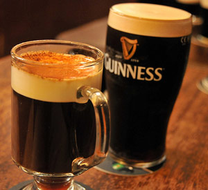 Guinness and Irish coffee at a wake or funeral