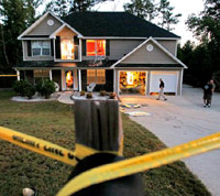 Home crime scene after burglary