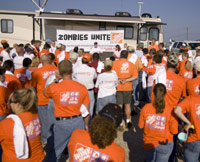 Home Depot Zombies Unite rally outside