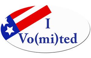 i voted vomited sticker let's see them \