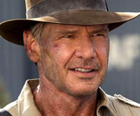 Indiana Jones with famous hat on