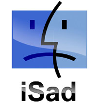 iSad Apple Mac logo