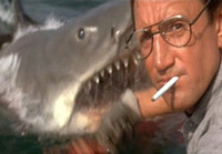 Shark attacking in Jaws movie