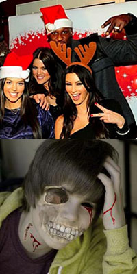 Justin Bieber with the Kardashians