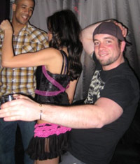 Bartender dancing with a hot chick