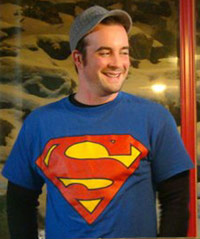 KC with Superman tshirt on