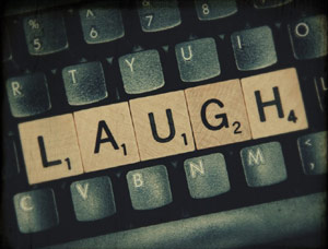 Keyboard laugh on the home keys