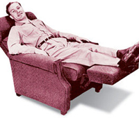 Man relaxing in a La-Z-Boy recliner