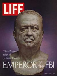 J. Edgar Hoover on the cover of Life Magazine in 1971