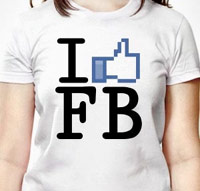 I Like Facebook tshirt