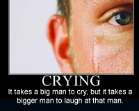 Man crying poster