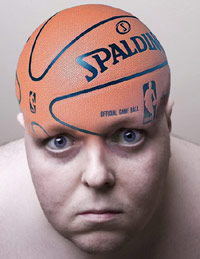 Guy with a basketball for a head