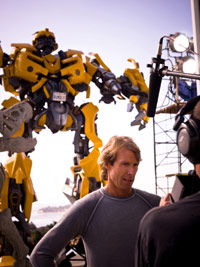 Michael Bay with Transformer