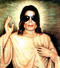 Michael Jackson as Jesus painting