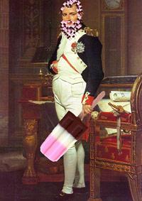Napoleon ice cream popsicle