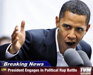 President Obama engages in a rap battle on TV
