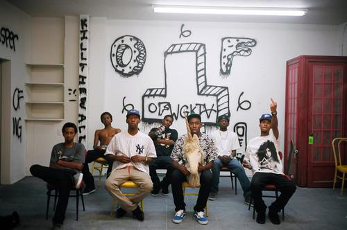 OFWGKTA - Odd Future Wolf Gang Kill Them All indie rap group sitting down together