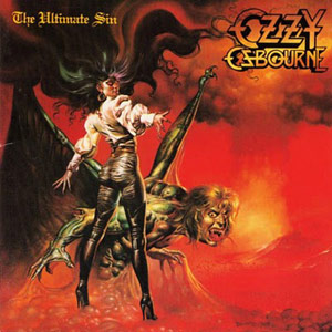Ozzy Osbourne - The Ultimate Sin (album cover)