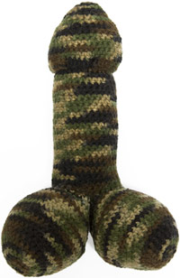 Camoflouge penis disguise knitting
