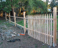 Picket fence not finished