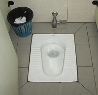 Pit toilet in China