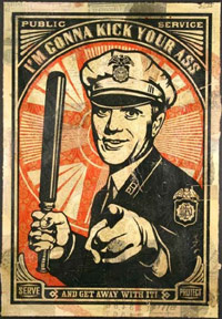 Police brutality poster