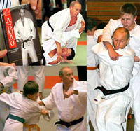 Putin doing Judo for his DVD