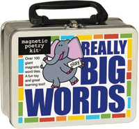 Really big words Magnetic Poetry box
