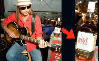 Kid Rock with Red Stag Jim Beam bottle