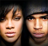 Rihanna and Chris Brown's faces