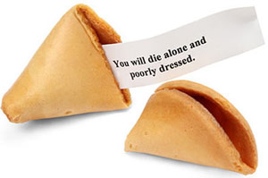 Fortune cookie fortune paper