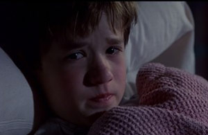 Scared boy from Sixth Sense
