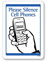 Please silence your phone sign