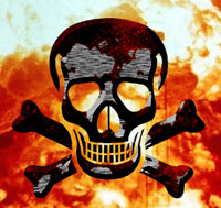 Skull and cross bones - end of the world sign