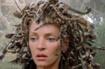 Cobra snakes as a woman's hair