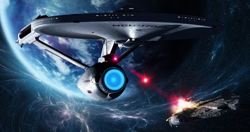 Star Trek Enterprise firing on the Death Star