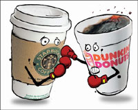 Starbucks vs. Dunkin Donuts coffee