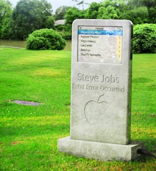 Steve Jobs' tombstone