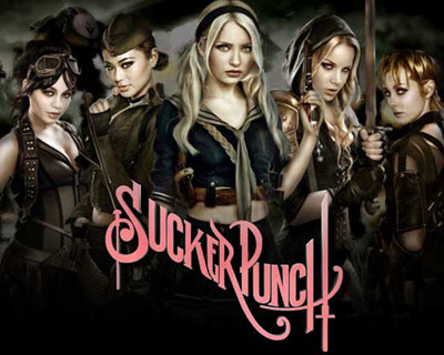 Suckerpunch girls on the movie poster