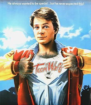 Teen Wolf movie poster with Michael J. Fox