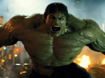 The Incredible Hulk is angry