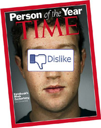 Mark Zuckerberg on the cover of Time (dislike)