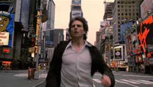 Tom Cruise in the middle of street in Vanilla Sky movie - Freedom Day