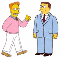 Troy McClure advising a man