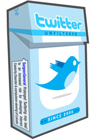 Twitter cigarette box
