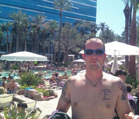 KC pre-partying by the pool in Las Vegas